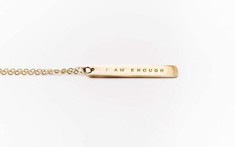 I am enough necklace
